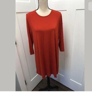 J. Jill Wearever Collection 3-4 Sleeve Tunic Dress